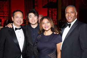John Paulson, Lang Lang, Zoë Smith, and Robert F. Smith (Photo by Julie Skarratt)