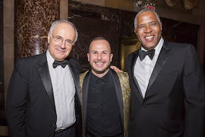 Clive Gillinson, Maestro Yannick Nézet-Séguin, and Robert F. Smith (Photo by Chris Lee)