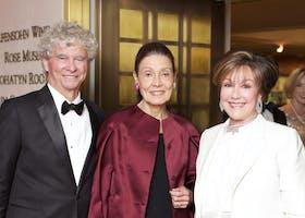 Beatrice Santo Domingo with Sir Simon Rattle and Ana Cristina Alvarado (Photo by Julie Skarratt)