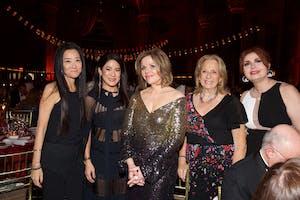 Vera Wang, Sabrina Fung, Renée Fleming, Daisy Soros, Sana H. Sabbagh. Photography by Julie Skarratt.