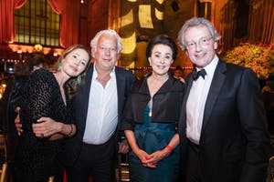 Samantha Boardman, Aby Rosen, Mercedes T. Bass, and Franz Welser-Möst