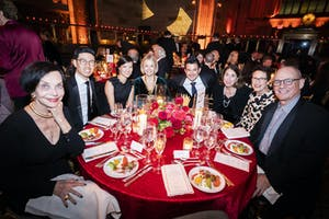 Louise Greenwald, Edward and Myra Huang, Veronica Atkins, Nick Kendall, Denise Kalland, and Terrie and Christopher Sultan
