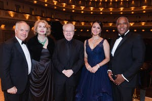 Clive Gillinson, Sana H. Sabbagh, Emanuel Ax, Isabel Leonard, and Robert F. Smith by Julie Skarratt