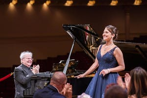 Emanuel Ax and Isabel Leonard by Chris Lee