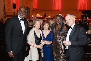 Gbenga Oyebode, Jamie Bernstein, Nina Bernstein Simmons, Aisha Oyebode, and Clive Gillinson by Julie Skarratt