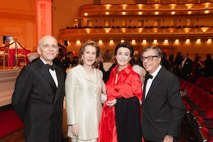 Robert Couturier, Judy Ney, Mercedes T. Bass, and Bob Colacello by Julie Skarratt