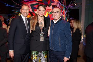 Edgar and Clarissa Bronfman and Danny Boyle (Photo by Julie Skarratt)
