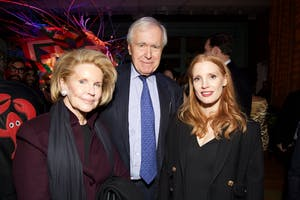 Sydney and Stanley S. Shuman and Jessica Chastain (Photo by Julie Skarratt)