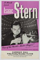 Poster for Isaac Stern, November 10, 1950.